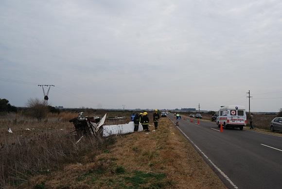 En sólo media hora se produjeron dos accidentes en ruta 8