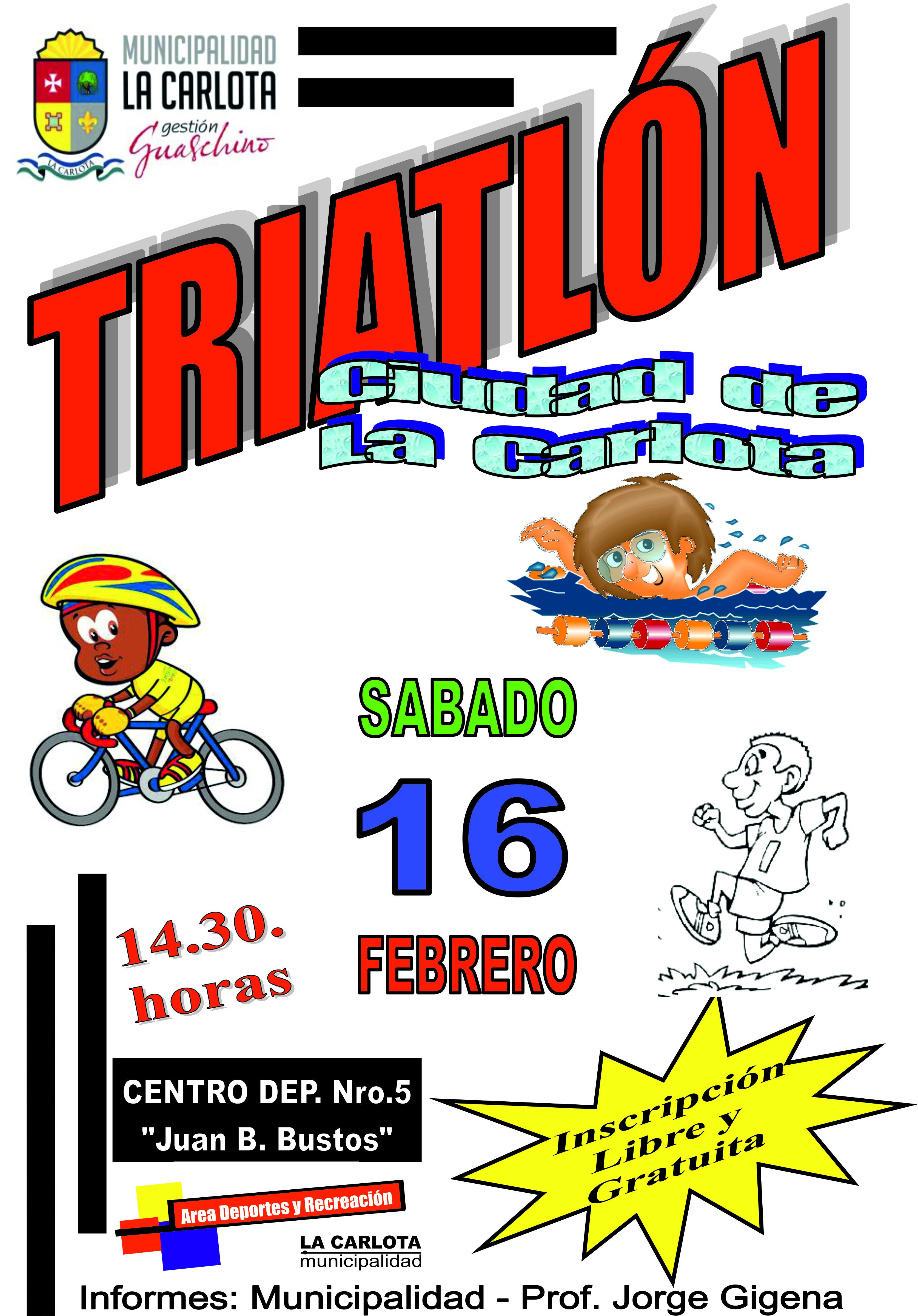 Triatlón en La Carlota