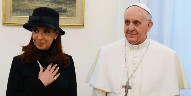 Primera visita de CFK al Santo Padre.