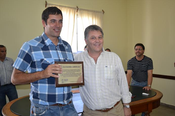 Guaschino agasajo al Tricampeón