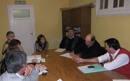Reunión de concejo con la Jueza de Falta e Inspectores de Tránsito.