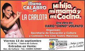 Iliana Calabro y su obra teatral en La Carlota.