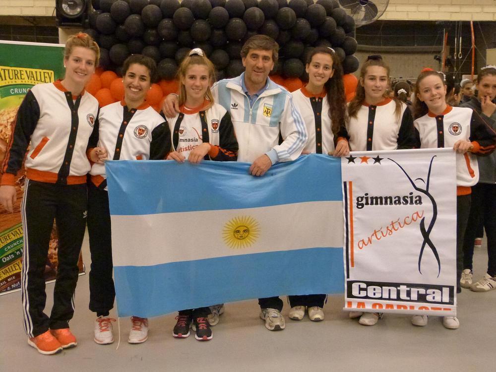 Medallas internacionales en gimnasia de Central.