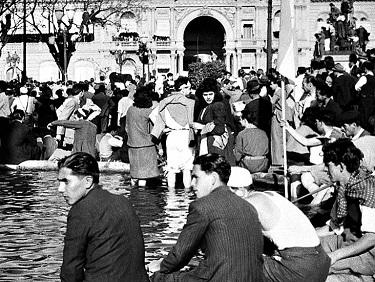 Acto por el Día de la Lealtad peronista en la Unidad Básica Eva Perón.
