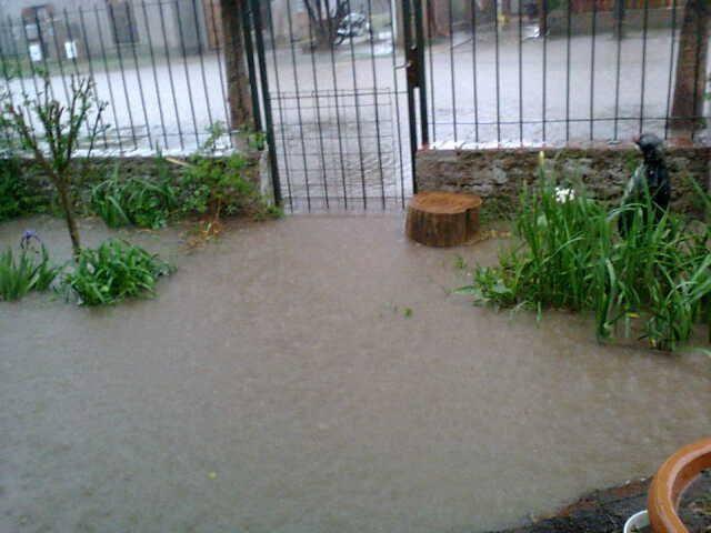 Días de lluvias en la ciudad.