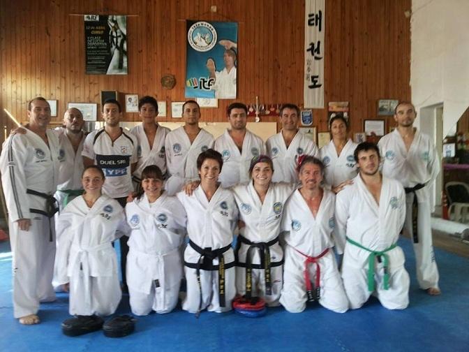 Taekwondo en competencia