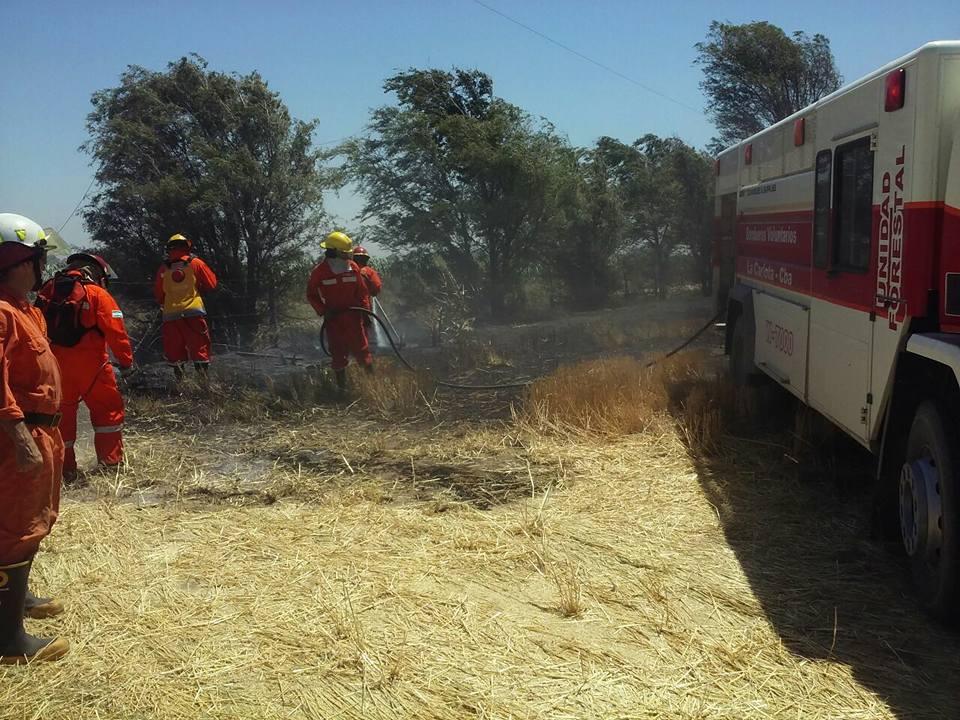 Bomberos controlaron tres incendios