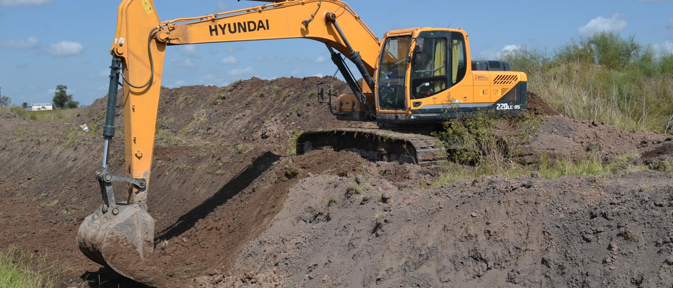 En zona rural comenzaron nuevas obras de desagües pluviales