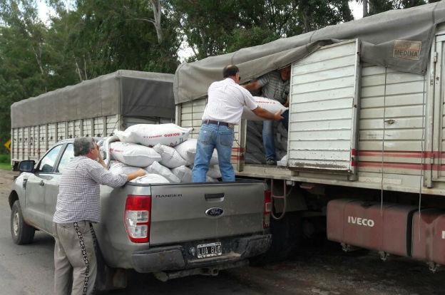 Sur provincial: entregan balanceado a pequeños productores