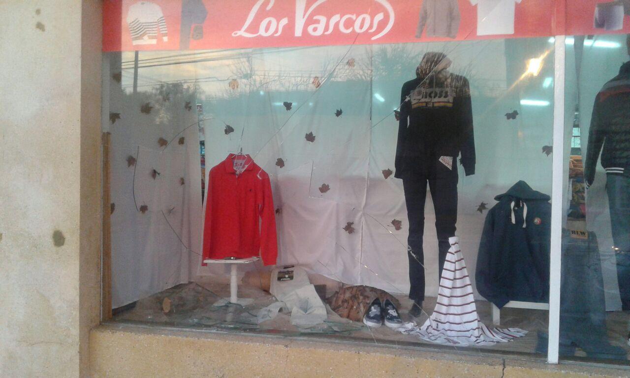 Un detenido por rotura de vidrios en la tienda Los Vascos