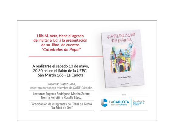 """Lilia Vera presenta su nuevo libro titulado """"Catedrales de Papel"""""""