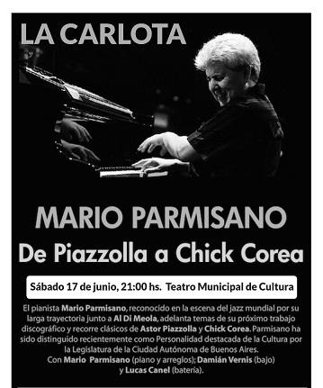 El gran pianista internacional Mario Parmisano en La Carlota