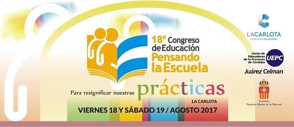"""18° Congreso de Educación """"Pensando la Escuela"""""""