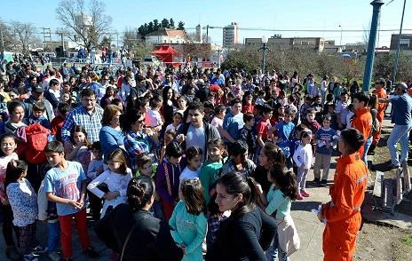 Gran convocatoria en los festejos por el Día del Niño