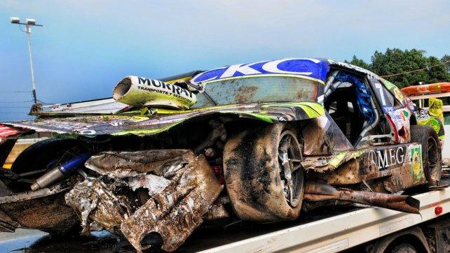 Duro accidente de Barucca por problemas de frenos