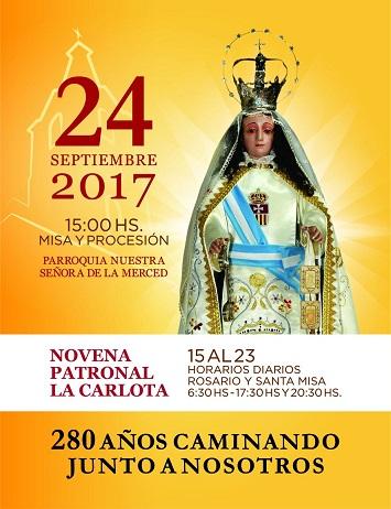 Del 15 al 24 de Septiembre se celebrará en nuestra ciudad la Novena Patronal
