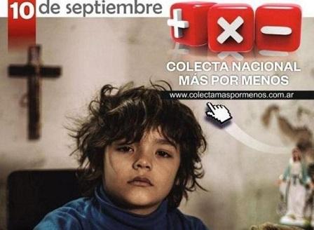 10 de septiembre: Colecta Nacional Más por Menos