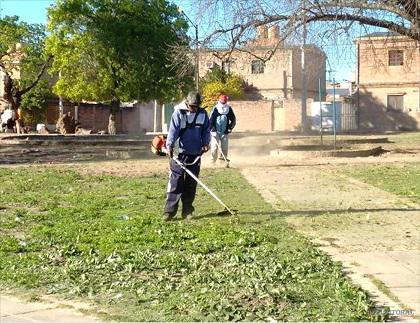 Operativo de limpieza en Barrio Pacífico