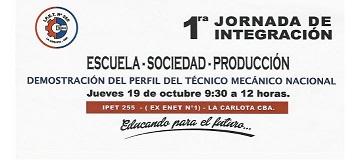1°Jornada: Escuela- Sociedad-Producción