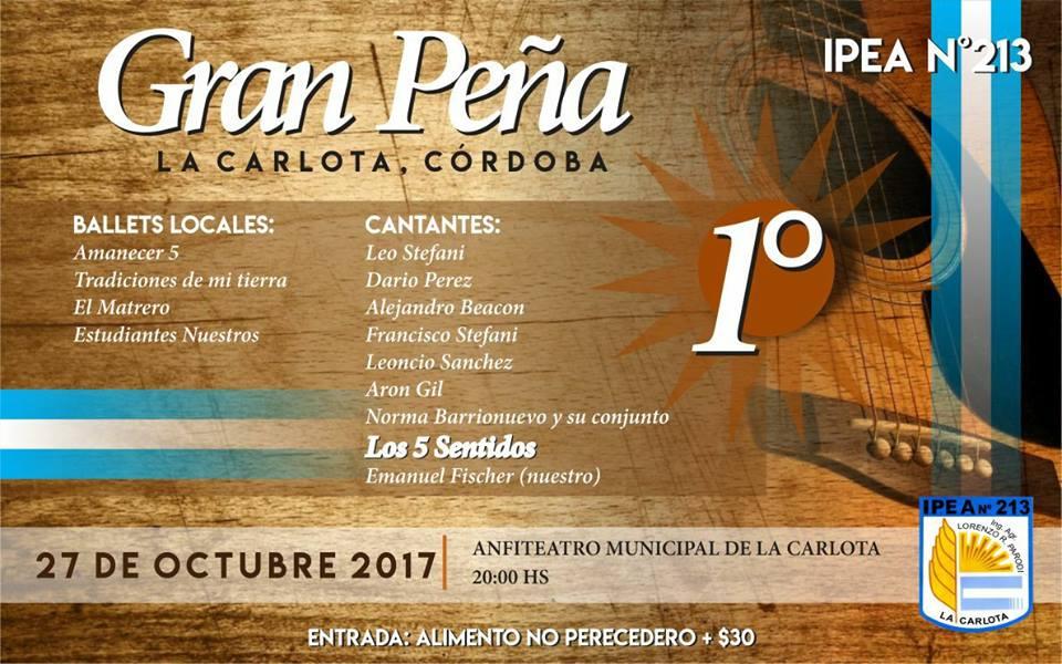 Se viene la primera Peña Folklórica organizada por el IPEA N°213