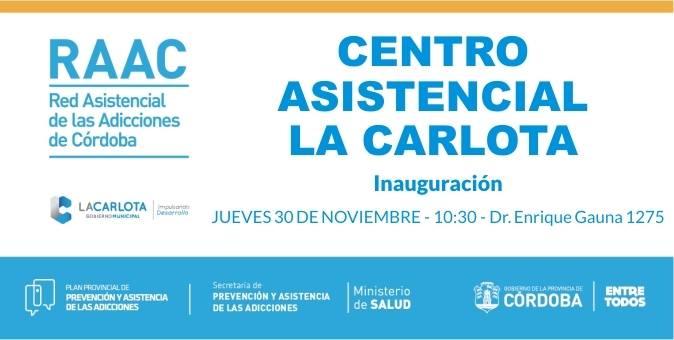 Inauguración de Centro Asistencial de Adicciones