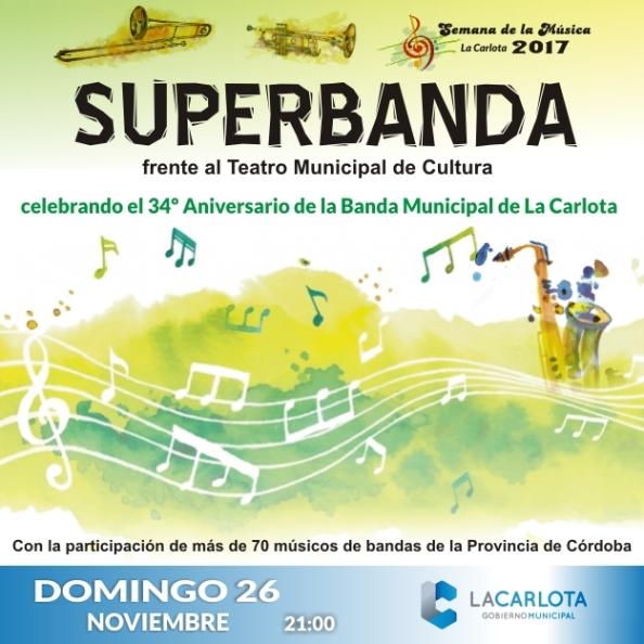 Superbanda en el 34º aniversario de las Banda