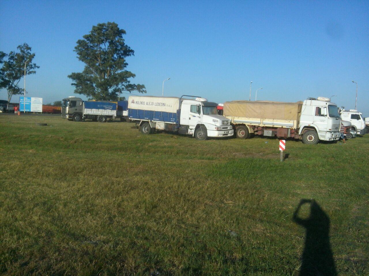 Hubo un corte total a todo tipo de camiones