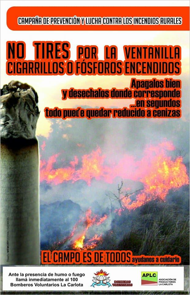 Campaña para evitar incendios rurales