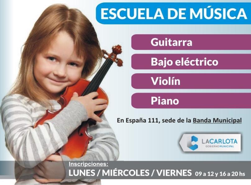 Cursos en la Escuela de Música