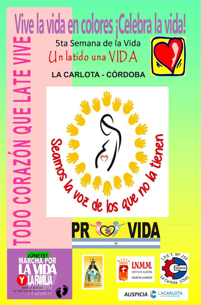 """5ta Semana de la Vida: «Vive la Vida en colores, celebra la vida"""""""