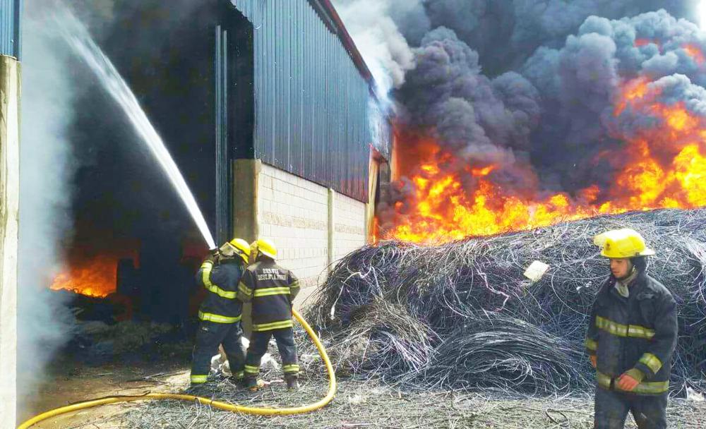 Más de 330 bomberos por el incendio en Alejandro