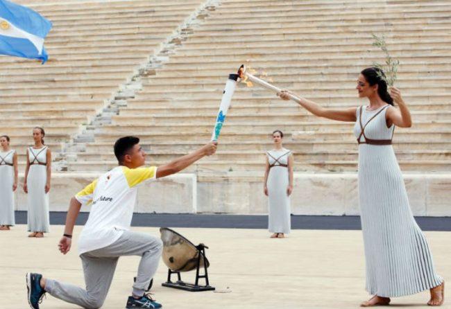 Argentina recibió la llama olímpica