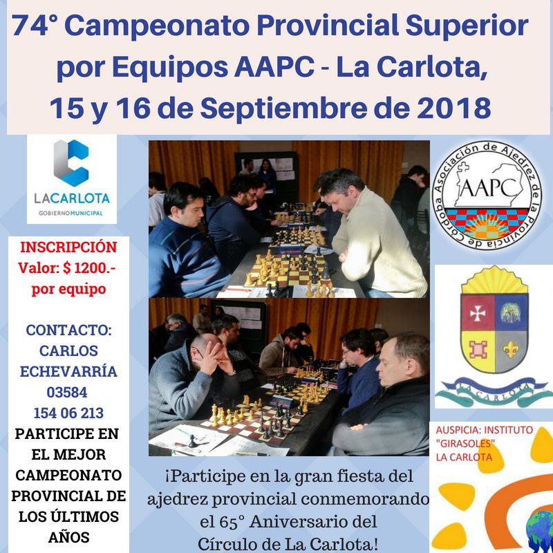 La Carlota: Se juega el mejor campeonato provincial por equipos de la AAPC de los últimos años