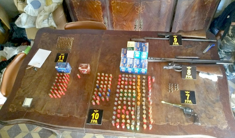 FPA secuestró armas, municiones y elementos relacionados al narcomenudeo en Canals