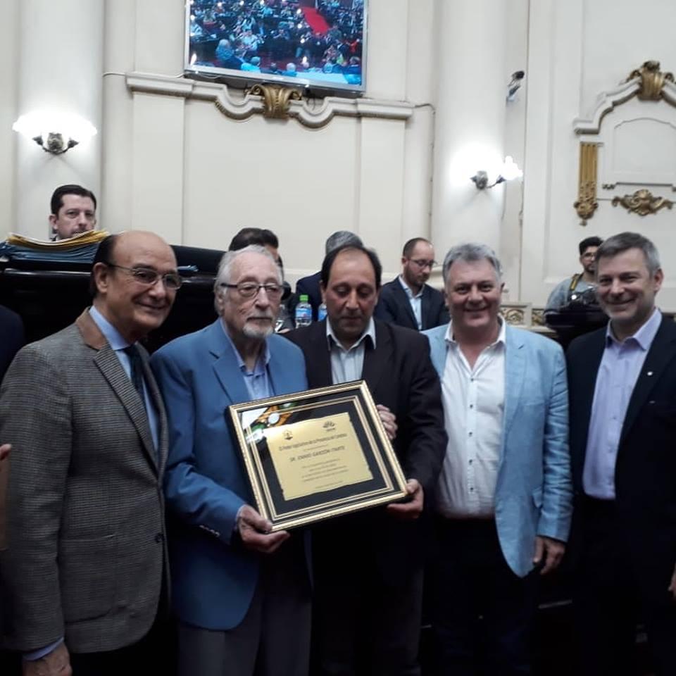 Reconocimiento en la legislatura a nuestro compañero Enio Garzón