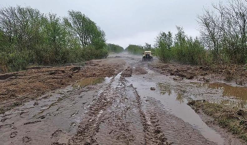 Tras la lluvia, varios caminos rurales quedan intransitables