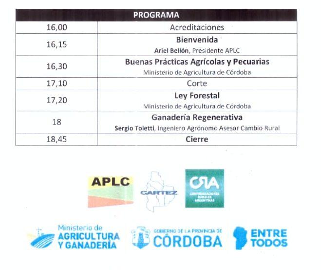 Se realizará charla informativa a cargo de la asociación de productores