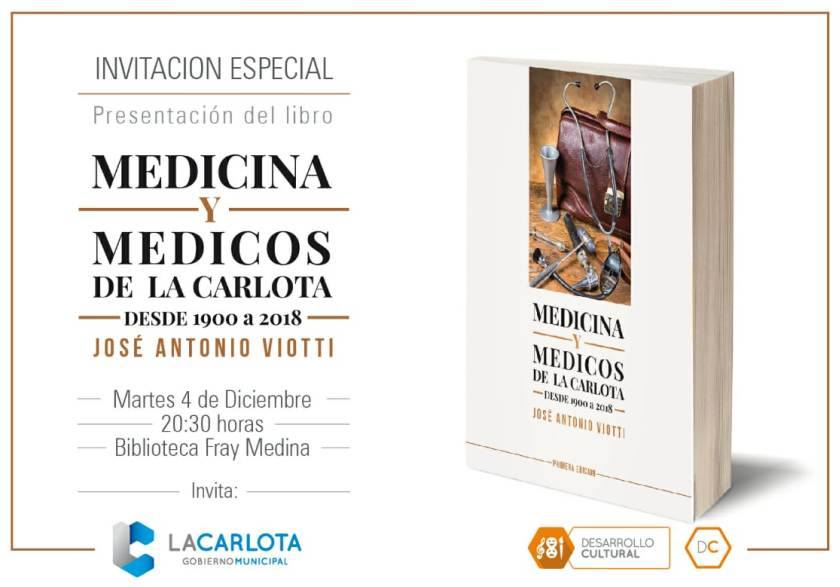 UN LIBRO SOBRE HISTORIA DE LA MEDICINA DE LA CARLOTA