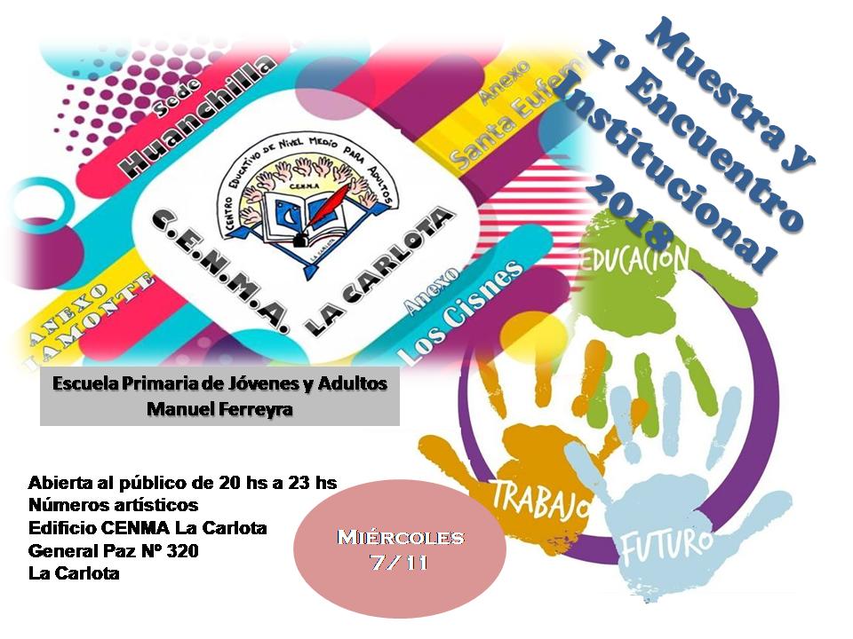 Muestra Institucional CENMA La Carlota 2018