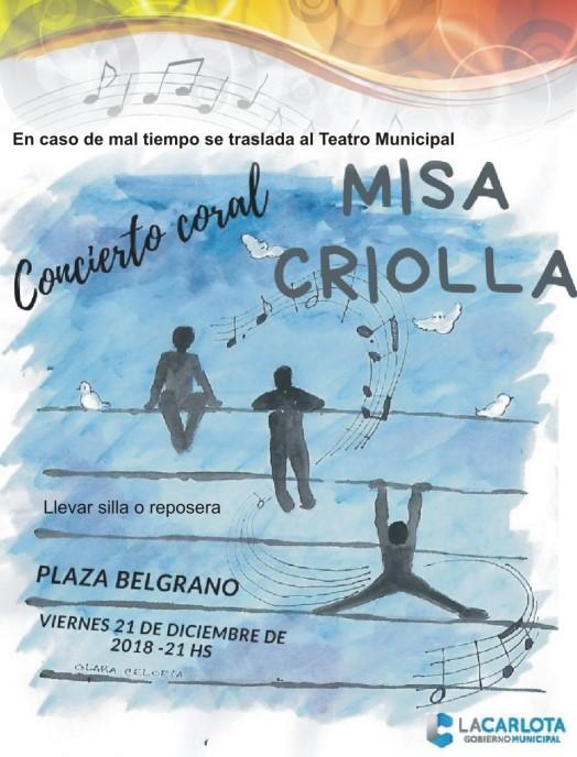 Misa Criolla a cargo de la Agrupación Coral La Carlota