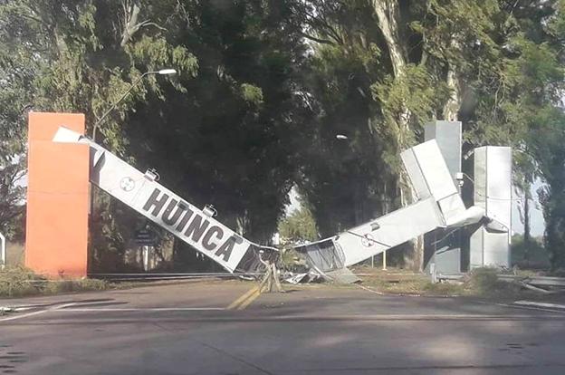 La Provincia asiste a Huinca Renancó, afectada por un temporal
