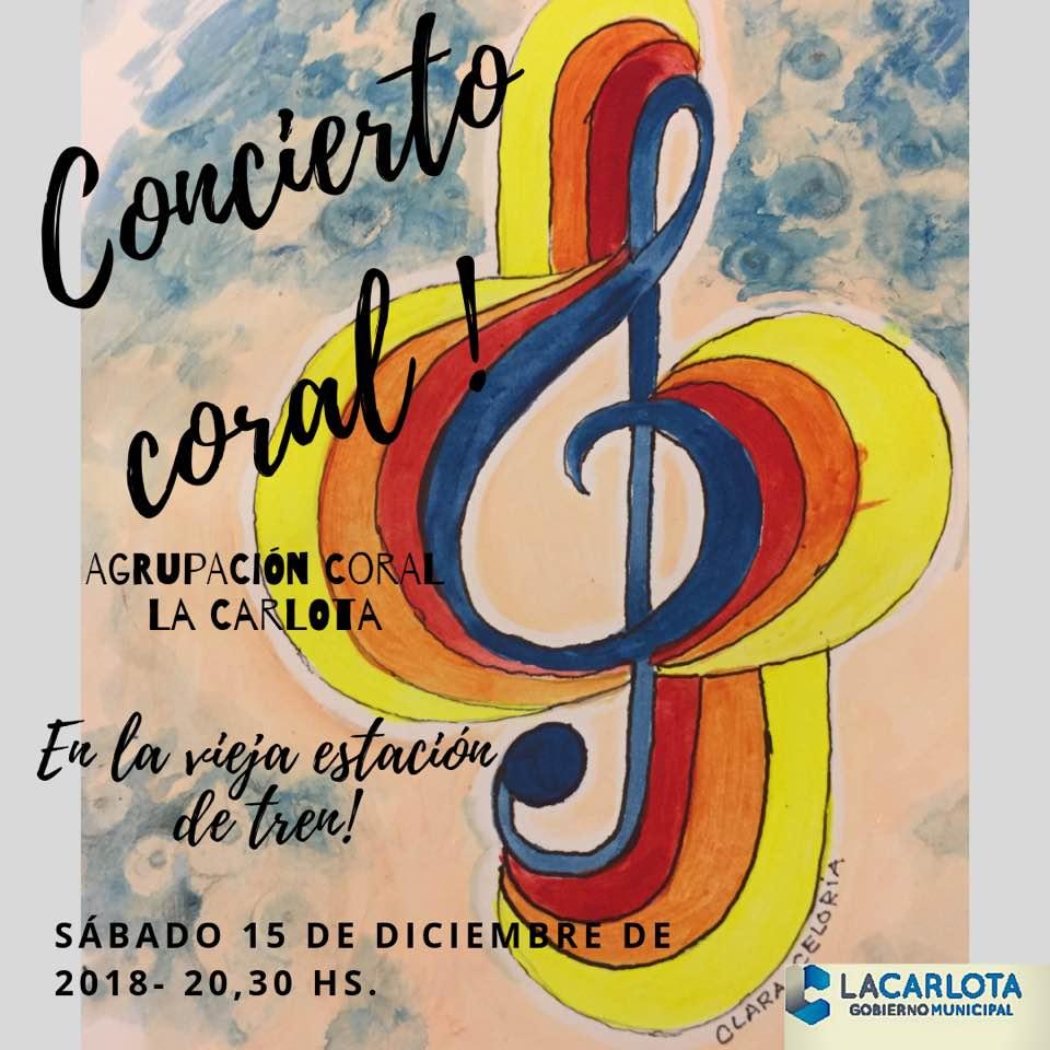 Concierto de Agrupación Coral en barrio Central Argentino