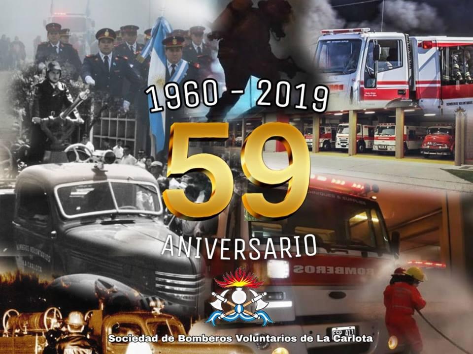 Mensaje de Bomberos Voluntarios por su 59º aniversario