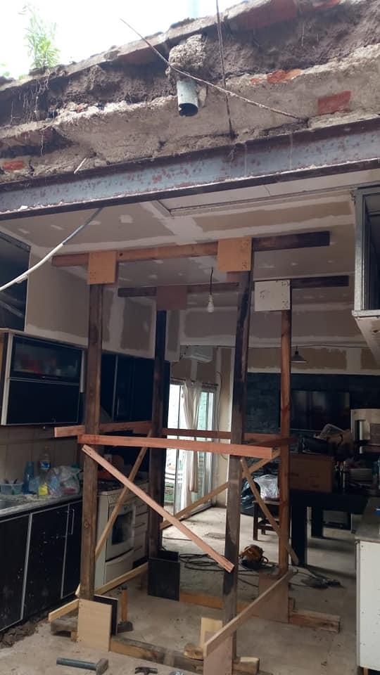 Se desprendió una parte del techo de una vivienda de nuestra ciudad