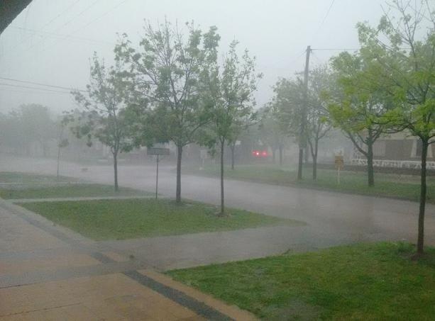 Cayeron 108 milímetros de lluvia durante la madrugada