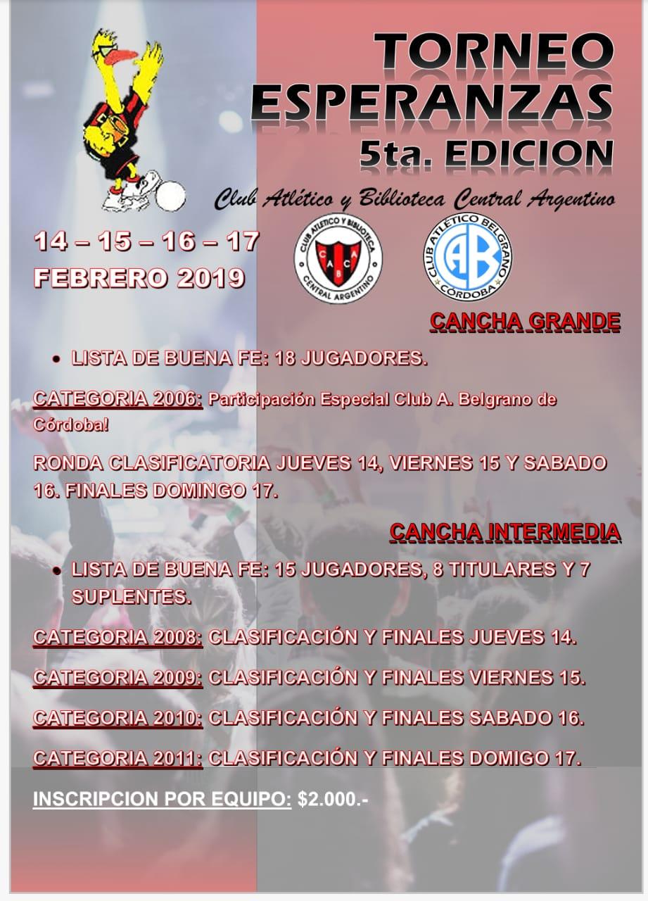 5ta. EDICIÓN: TORNEO ESPERANZAS 2019