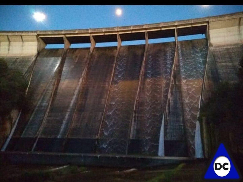 Rio Ceballos- rebalsó el dique La Quebrada