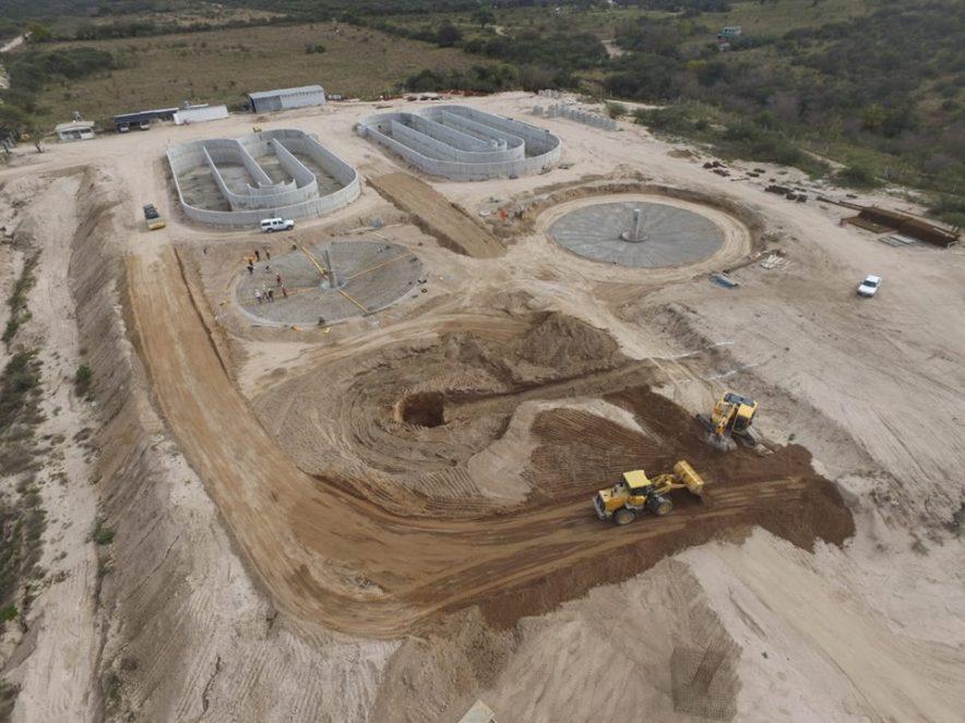 Ya se ejecutó 30% de la mega planta cloacal de Mina Clavero y Villa Cura Brochero