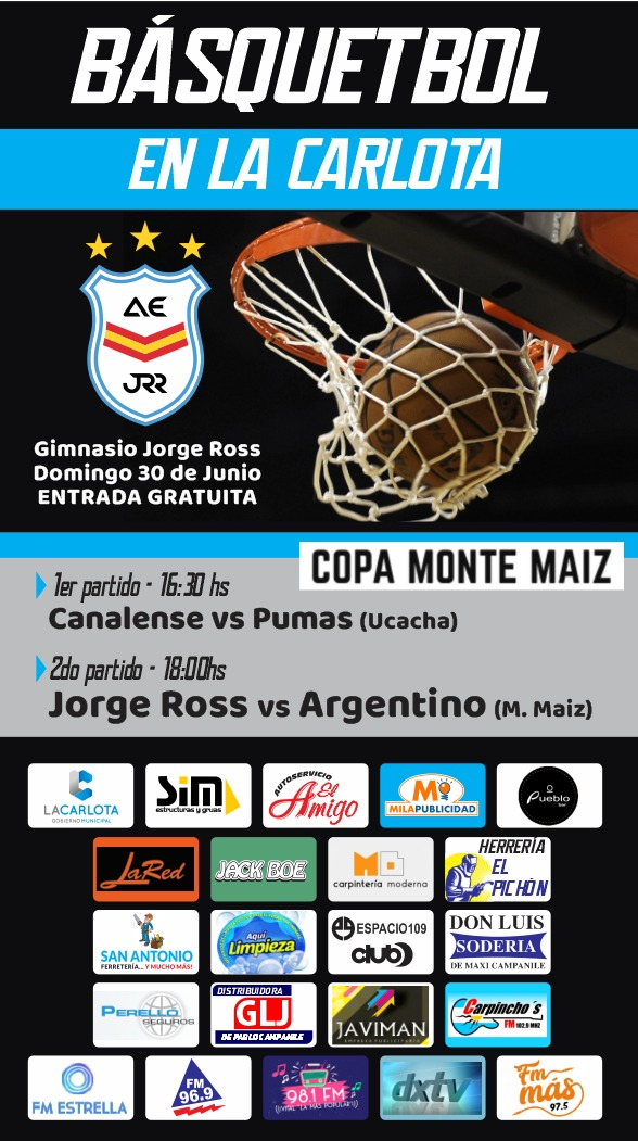 Básquet: Ross local por la Copa Monte Maíz