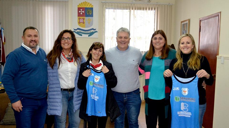 La Carlota: Fabio Guaschino recibió al plantel femenino de básquet de Jorge Ross